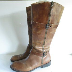 Matisse Militia Riding Boots Distressed Leather